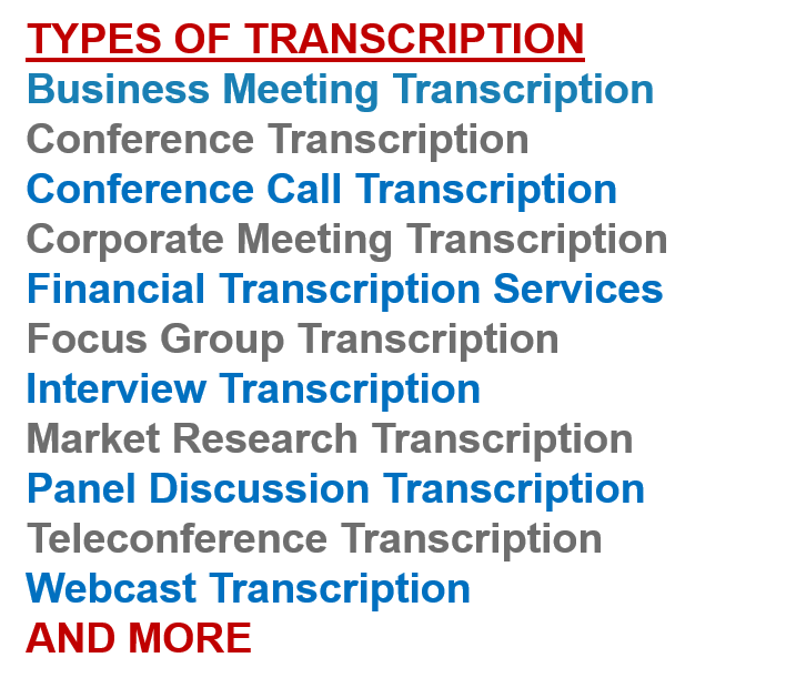 Business Transcription • The 24 Hour Secretary