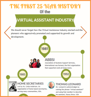 The 1st 25 Year History of the VA Industry Infographic